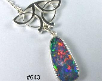 Australian opal pendant in 935 Argentium silver