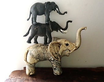 Vintage Boho Elephants, Elephant, Trio, Retro Decor, Safari, Jungle, Kitsch, Boho, Boho Decor
