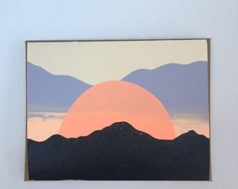 Sunset in Santa Fe, NM Blank Card 2016
