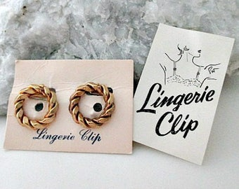 Vintage Lingerie Dress Clips - Vintage Lingerie Accessory