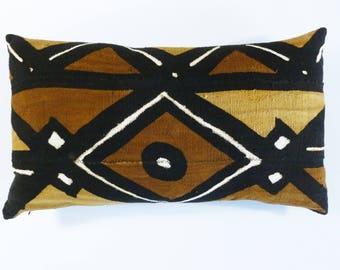 Bohemian Pillow ~ Mudcloth Pillow ~ Mud Cloth Pillow (MUD12)