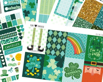 March Planner Sticker Kit - St Patricks Day  - Weekly Sticker Kit - for use with ERIN CONDREN LIFEPLANNER™