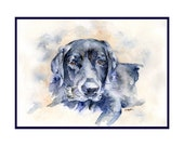 Watercolor Black Labrador Dog Note Cards, Notecards, Labrador Retriever, Dog Lover, Hunting Dogs, Labrador Prints, Stocking Stuffers
