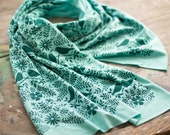 Holiday Special: Any Two Soft, Hand-Printed Scarves for 70 with free shipping. Handmade, Made in Maine, handmade gifts, bamboo, sustainable
