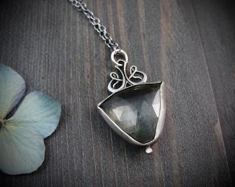pendulum ... green amethyst pendant
