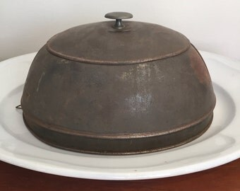 Antique Tin Food Dome or Cover Small and Simple