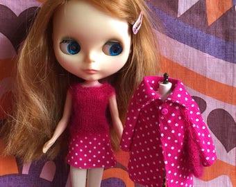 REDUCED Candy Girl - 4 Piece coats set with coat, skirt, top & bag