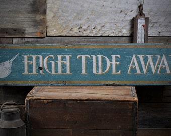 Custom Beach Sign Horseshoe Crab Decor Wall Coastal