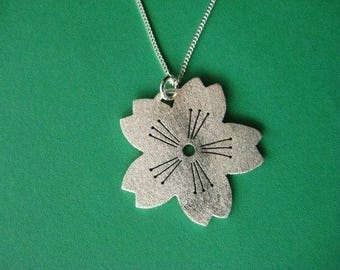 Simple Sparkling Sakura Pendant
