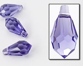 Swarovski 6000 13mm x 6.5mm Tanzanite Teardrop