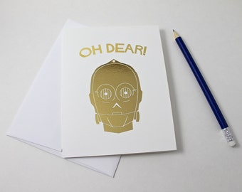 C3PO Note Card