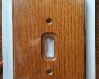 OAK Single Toggle Switch Wall Plate Cover AMERELLE New Genuine Solid Oak Wood