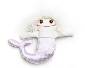 Rag doll Oceane the Mermaid - Handmade plush, Baby lovey