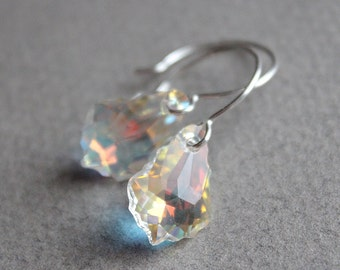 Swarovski Crystal Baroque Earrings - Sterling Silver