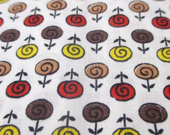 """Vintage Printed Fabric Novelty Cotton Mid Century Cotton Blend 4 Yard 36"""" Wide 50's 60's"""