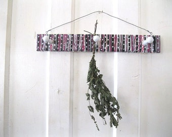 PEG BOARD herb hanger Hand Painted  #2