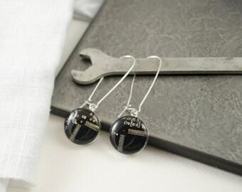Brown Circuit Board Earrings, Sterling Silver Dangle Earrings, Motherboard earrings, Geek Gift for Her, Software Engineer Gift, We Do Geek