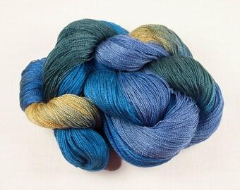 WINTER BLUES 8/2 Handpainted Tencel Yarn