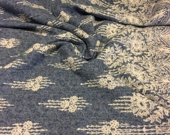 Rayon Lace Inspired Pattern Double Border  Print Fabric