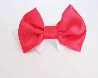 Dog Bow Tie: Wedding Cat or Dog Coral Red Orange Pink Lavender
