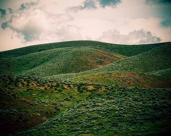 Utah Landscape Photography - Rural Hills - Northern Utah Photo - Green Hills - Countryside - Nature Photo