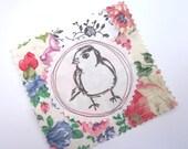 Fabric Patch, Quilt Block, Applique - Sweetie Bird