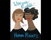 Women's March Women's Rights are Human Rights print for Planned Parenthood