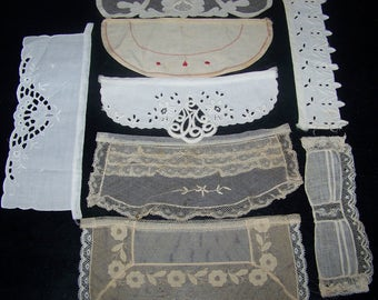 Vintage  Bits And Pieces Trim Applique Craft Doll Clothes Costume Doll Up Cycle Embroidery Lace n5