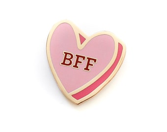 BFF Heart, Enamel Pin