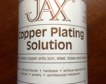 16 oz (pint) ~~ JAX Copper Plating Solution (patina) Instantly plates copper onto Iron, Steel, Brass and solder