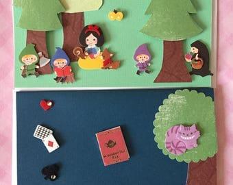 Adorable Handmade Kawaii Fairytale Greeting Cards cute details blank inside