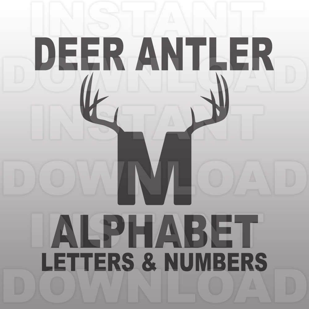 Deer Antler Font Svg File Antler Alphabet Svg Antler