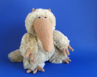 Vintage Anteater Stuffed Animal by Graphics International 1980s Toy Aardvark 1983 Plush