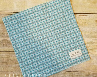 Blue Plaid - Reusable Sandwich Bag | Snack Bag | Waterproof | Travel Bag from green by mamamade