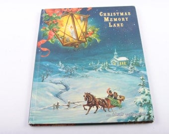 Christmas Memory Lane, The Ideals Publication, Holidays, Vintage, Children's, Books ~ The Pink Room ~ 170209