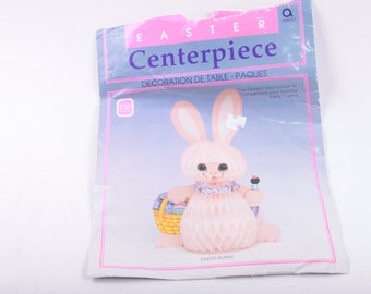 Easter, Honeycomb, Centerpiece, Bunny, Table, Decoration, Basket, Holidays ~ The Pink Room ~ 170127