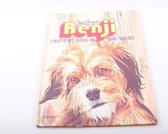 Benji, Fastest Dog in the West, Vintage, Children's, Book, Dog, ~ The Pink Room ~ 161215