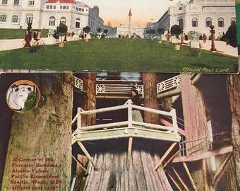 19 Yukon Pacific Expo Exposition Postcard Lot Postcards Seattle WA