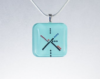 PDX Carpet Glass Tile Pendant