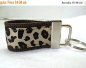 Anniversary Sale Mini Leopard Key Fob - Cheetah Keychain - BROWN - Small Key Chain - Animal Print Key Ring - Backpack Identifier