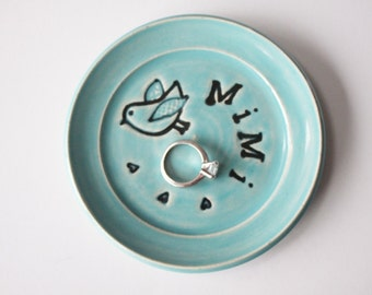 Mimi ring dish or spoon rest - Gift for Mimi - Keepsake Ring Dish - Ready to Ship,  Gift box included