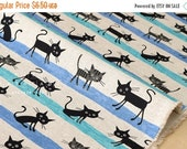 Japanese Fabric cocoland cats canvas - 50cm