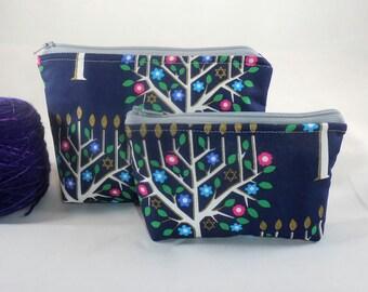 Tree of Life mini zippy bag by AnniePurl