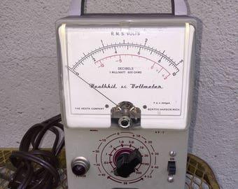 Vintage Voltage Meter Heathkit A.C. Voltmeter
