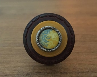 Artsy Yellow - Stacked Button Ring