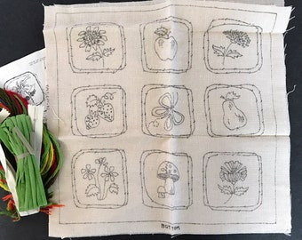 Vintage Bucilla Needlecraft pillow kit - Sign of Spring- from Maxim Coffee 1970's