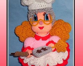 Crochet Baking Fairy Pattern, crochet cooking, crochet fairy, crochet bake