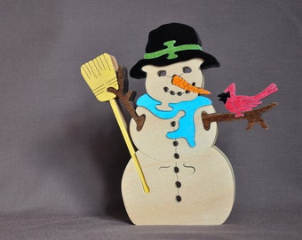 Snowman Winter Snow Puzzle Frosty Toy Christmas Holiday Decoration