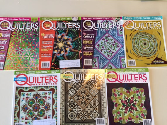 Quilters Newsletter Magazine 2013 7 Issues From