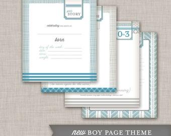 SALE Modern Baby Memory Book (9.25 x 9.5)